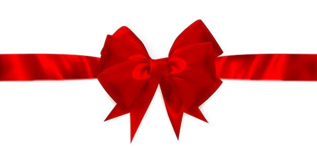 Czerwony prezent łuk i wstążka.