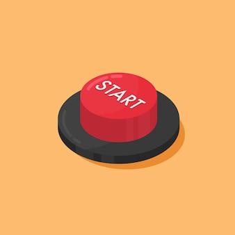 Czerwony przycisk start.