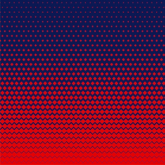 Czerwony romb kształt półtonów tło