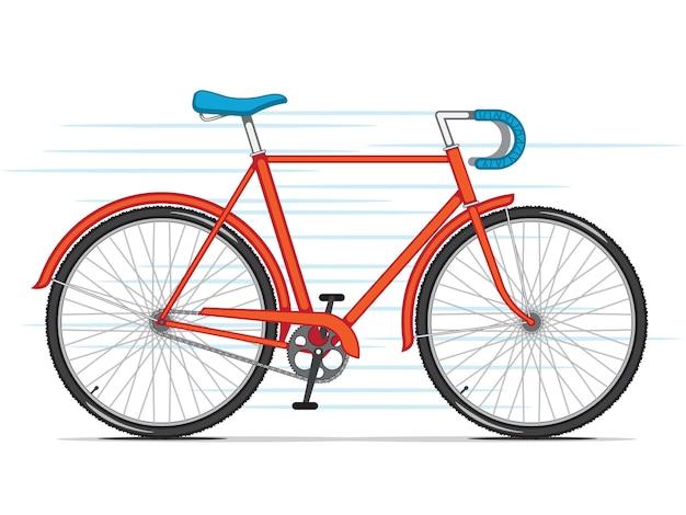 Czerwony rower miejski