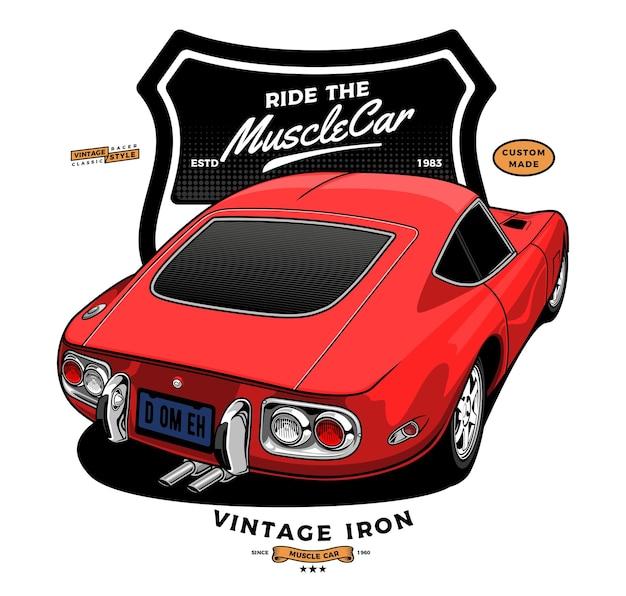 Czerwony samochód mięśni