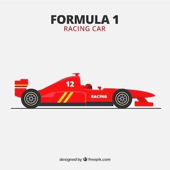 Czerwony samochód wyścigowy formuły 1