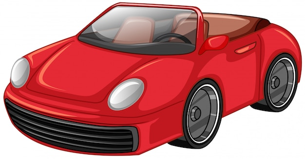 Czerwony samochód wyścigowy