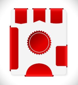 Czerwony sprzedaż tagi i zestaw ikon etykiet