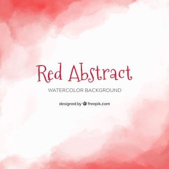 Czerwony streszczenie tło w stylu przypominającym akwarele