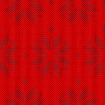 Czerwony sweter wzór
