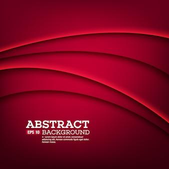 Czerwony szablon abstrakcyjne tło z linii krzywych