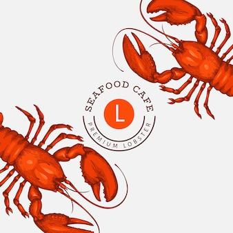 Czerwony szablon homara