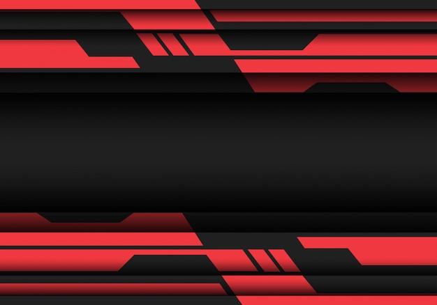 Czerwony szary geometryczne cyber futurystyczny design nowoczesnej technologii tło.