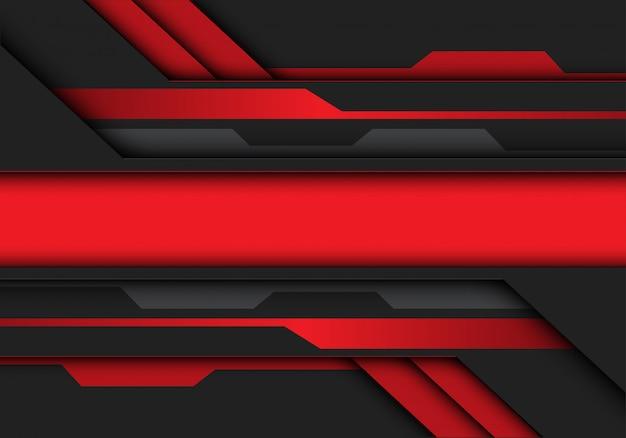 Czerwony szary metalik transparent obwodu futurystyczne tło.