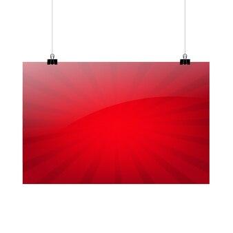 Czerwony sztandar sprzedaży z ilustracją siatki gradientu