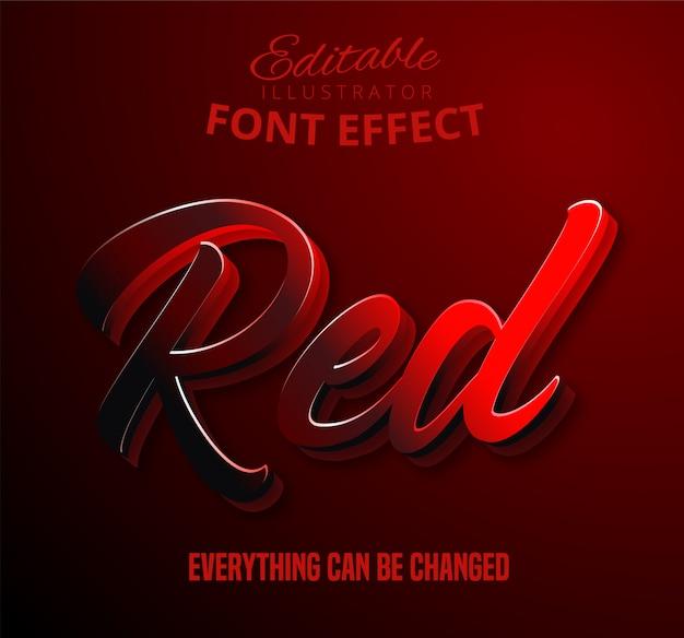 Czerwony tekst, edytowalny efekt tekstowy