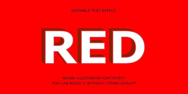 Czerwony tekst edytowalny efekt
