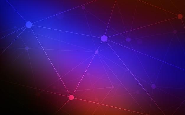 Czerwony wektorowy tło z kropkami i liniami