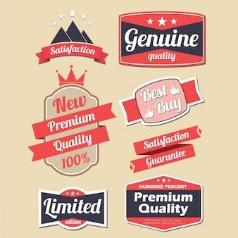 Czerwony zestaw do projektowania etykiet