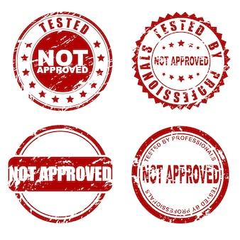 Czerwony zestaw niezatwierdzonych znaczków