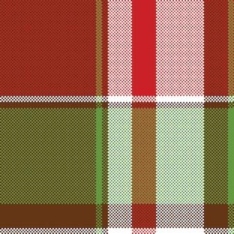 Czerwony zielony streszczenie szkocka krata wzór pikseli bez szwu