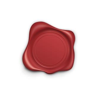 Czerwony znaczek. woskowa pieczęć. etykieta retro. etykieta gwarancyjna jakości, ilustracja