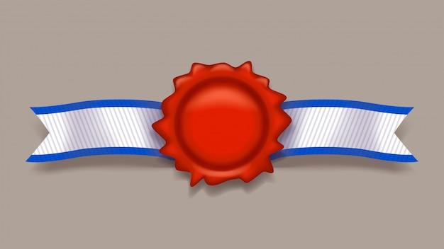 Czerwony znaczek ze wstążką