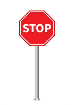 Czerwony znak stopu