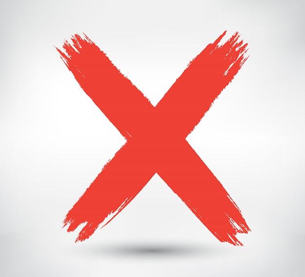 Czerwony znak x x