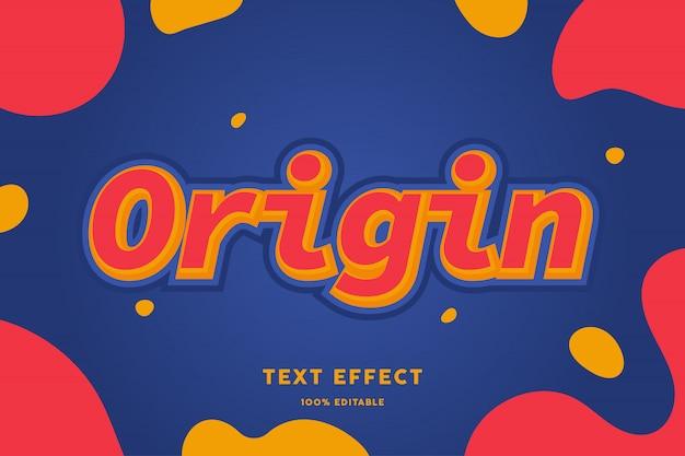 Czerwony żółty z płynnym kształtem na niebieskim stylu tekstu
