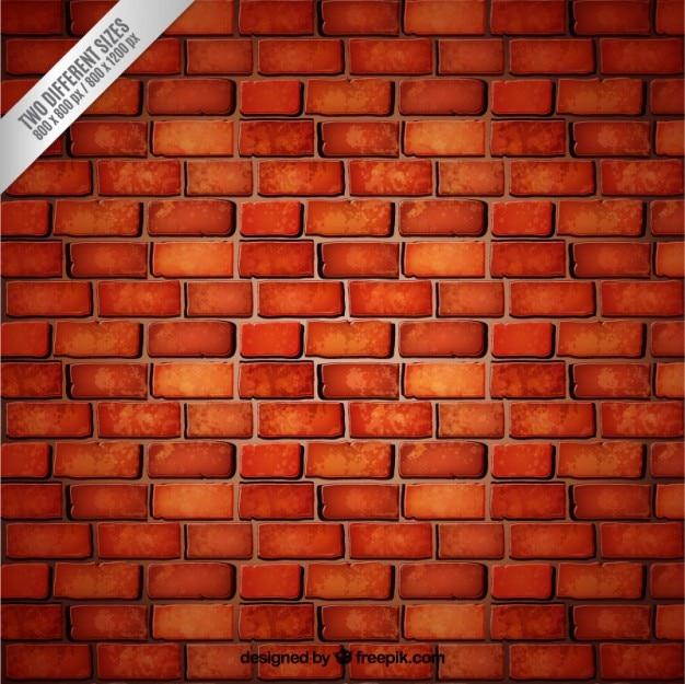 Czerwonym tle ceglanego muru