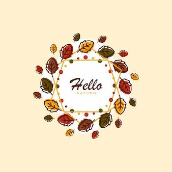 Cześć jesieni tła ilustracja