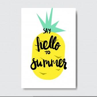 Cześć letnia ananasowa odznaka