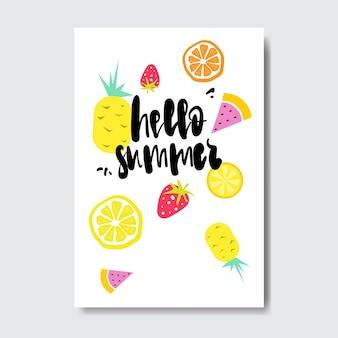Cześć letnia odznaka owoców