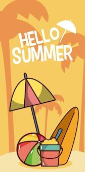 Cześć letnie kreskówki