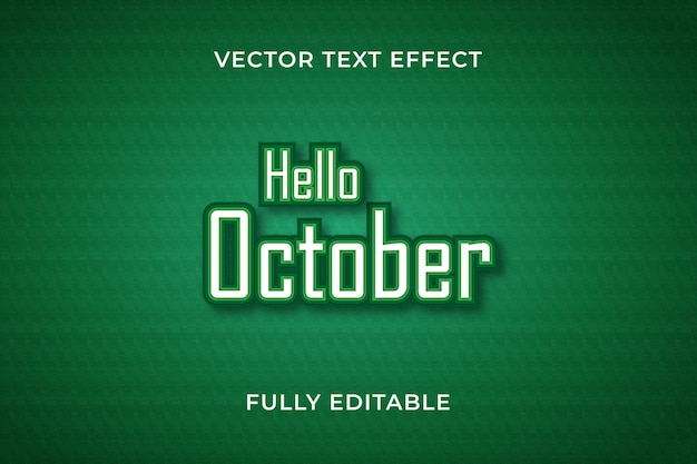 Cześć październikowy efekt tekstowy