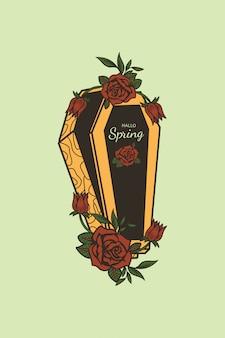 Cześć wiosny meksykańskie kwiaty