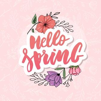Cześć wiosny sprzedaży tło z pięknym kwiatem