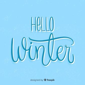 Cześć zimowy napis