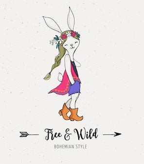 Czeska moda, króliczek, królik, szyk boho i cygański styl