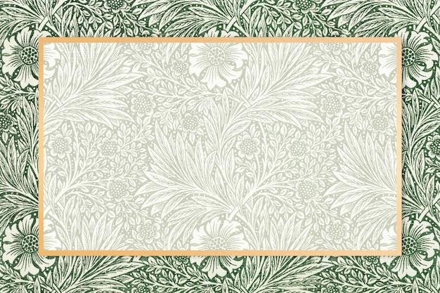 Czeska rama z tkaniny wzór william morris