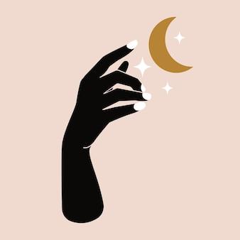 Czeski blask księżyca dłoni