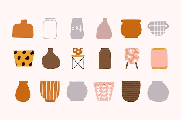 Czeski ceramiczny zestaw doniczek ogrodowych
