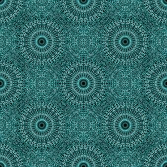 Czeski orientalny turkusowy klejnot kamień mandala wzór