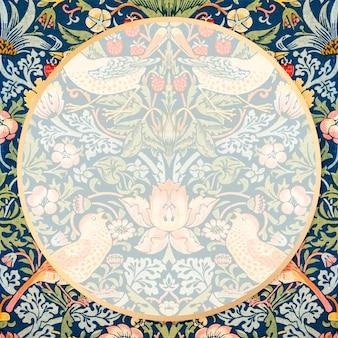 Czeski wektor rama z tkaniny wzór william morris