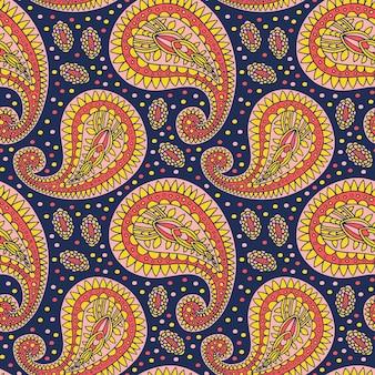 Czeski wzór paisley. ozdobny wzór wschodni