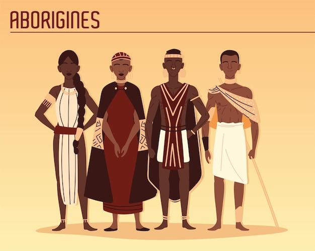 Członkowie plemion aborygenów
