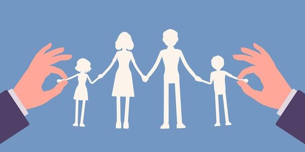Członkowie rodziny łańcuch do girland z papieru