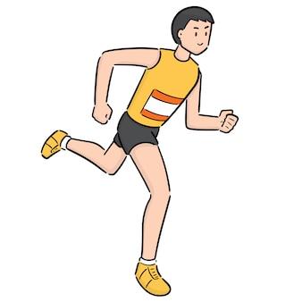 Człowiek biegnie