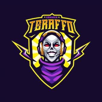 Człowiek maskotka logo