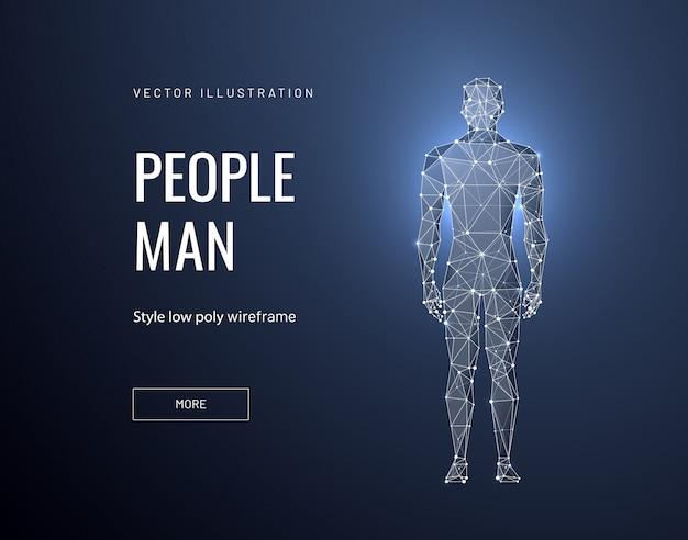 Człowiek w stylu wielokąta szkieletowego