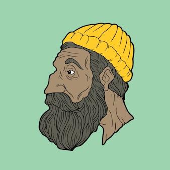 Człowiek z brodą