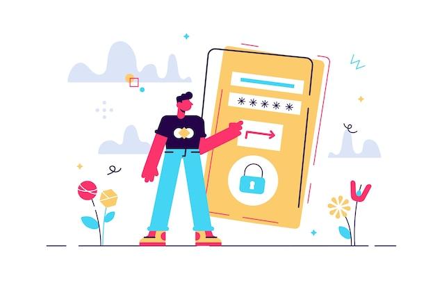 Człowiek z dużą ilustracją smartfona