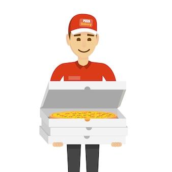 Człowiek z pizzą